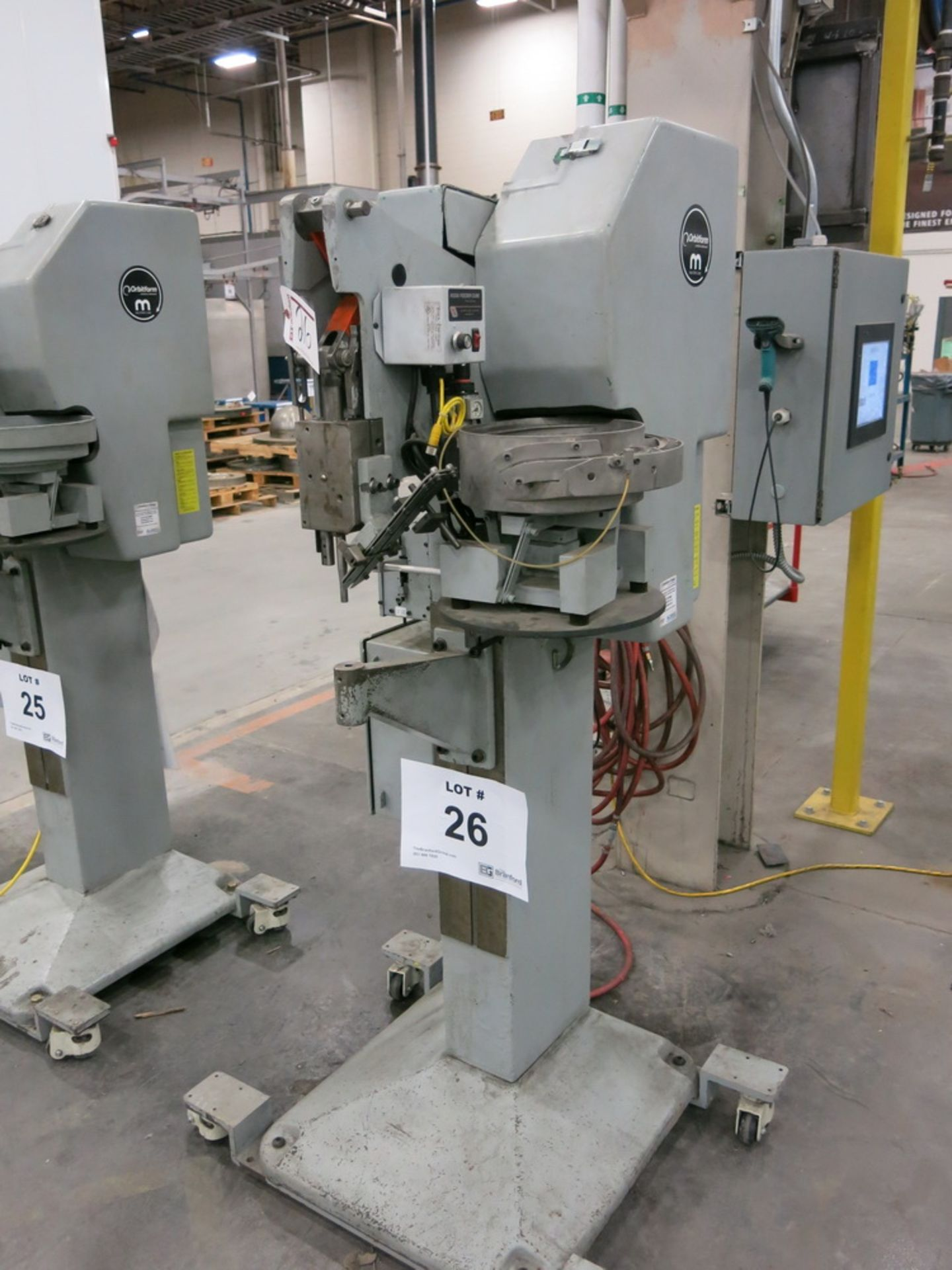 Lot 26 - Orbitform and Milford Riveting Machine, Model 405-VH, w/ Vibratory Bowl Feeder