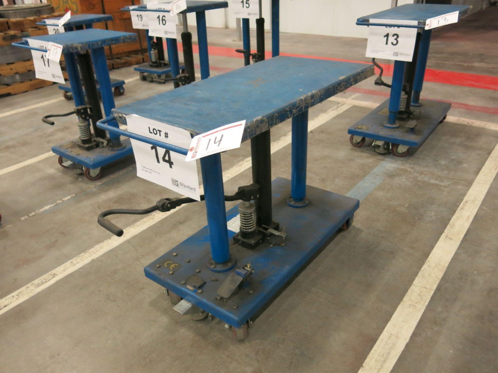 "Lot 14 - 2015 Hydraulic Die Lift Cart, 1000 Lb Cap. 18"" x 36"""