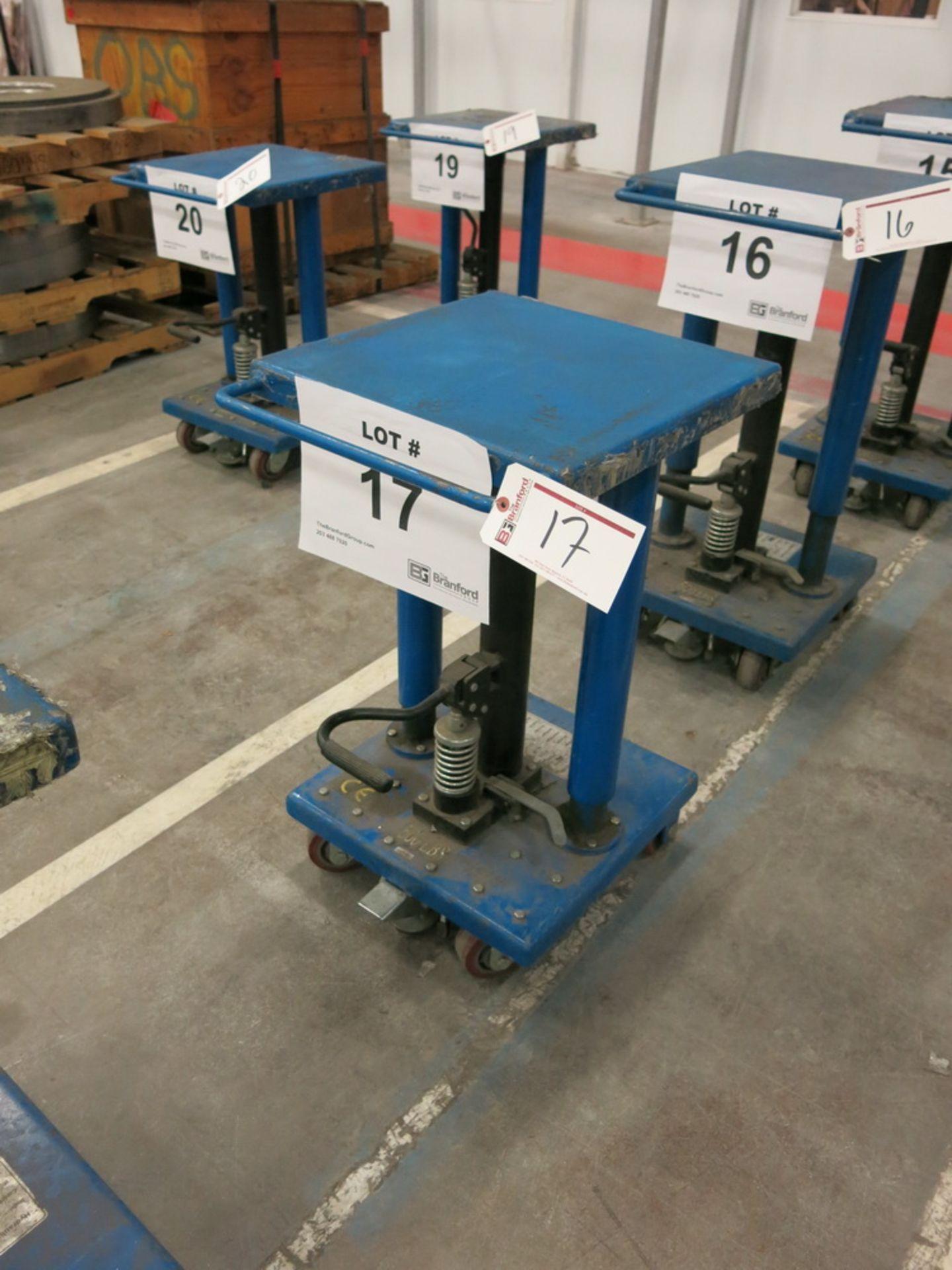 "Lot 17 - 2014 Hydraulic Die Lift Cart, 500 Lb Cap. 18"" x 18"""