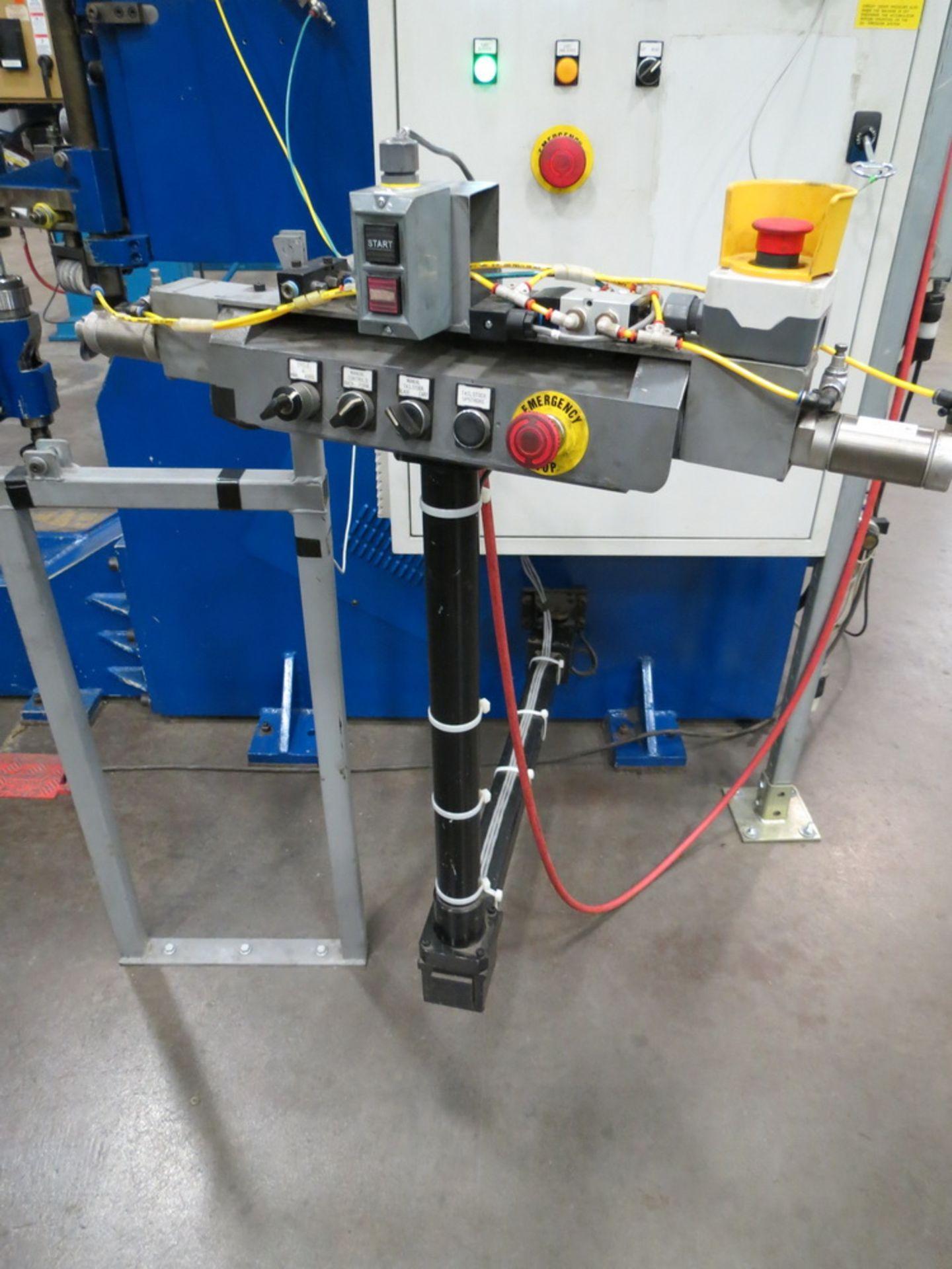 "Lot 47 - 2014 Lucas Model 6-1800 Shear and Beading Machine, 70"" max. diameter"