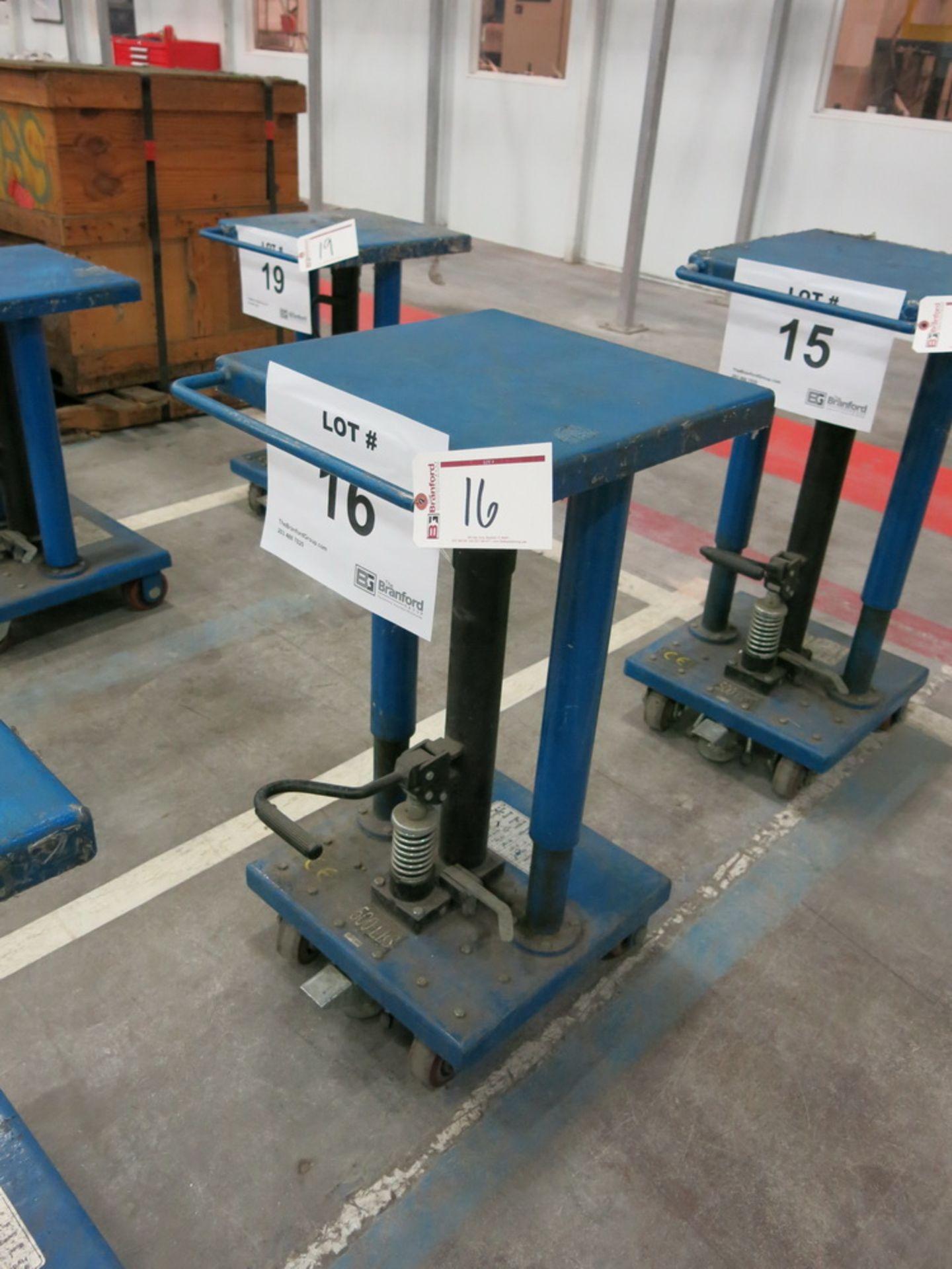 "Lot 16 - 2014 Hydraulic Die Lift Cart, 500 Lb Cap. 18"" x 18"""
