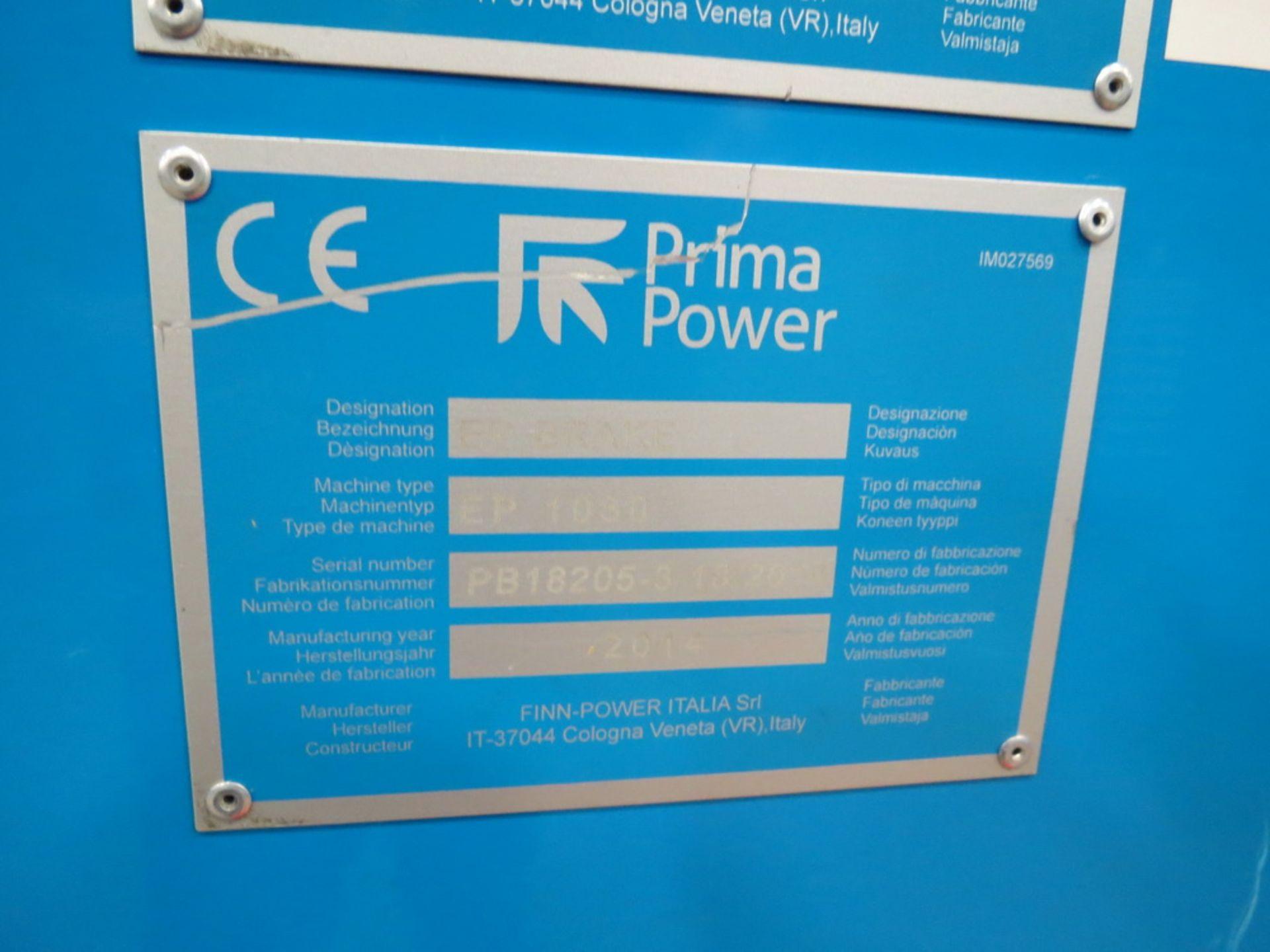 Lot 58 - 2014 Prima EP1030 3 Meter Electric Servo Press Brake