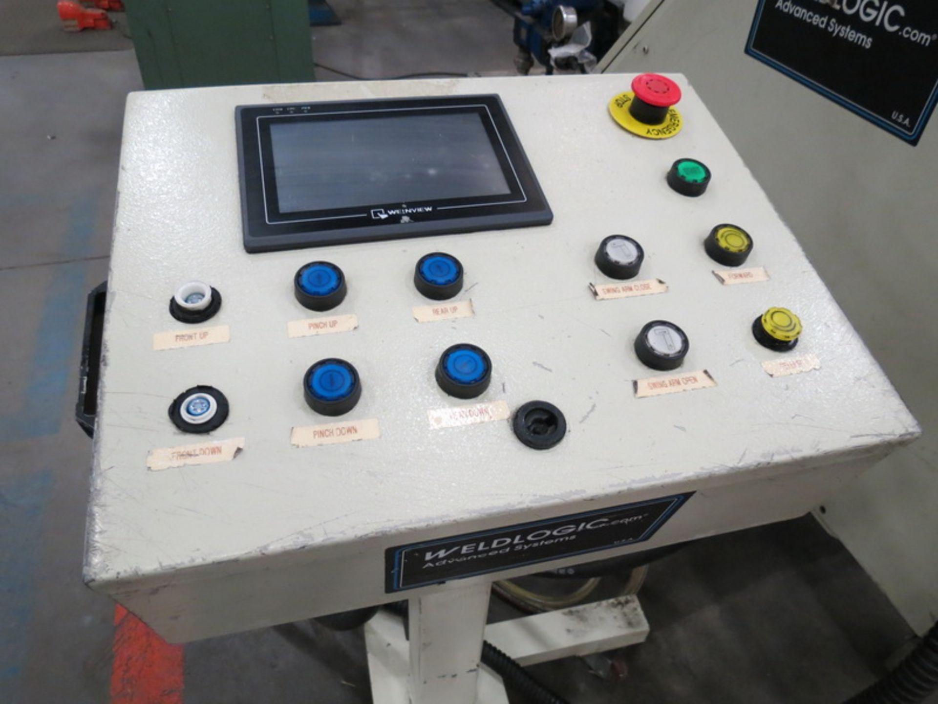 "Lot 46 - Weld Logic Model 4R-PB 4-Roll Roller, Max Width Cap. 36"" w/ Weinview Digital Controls"