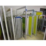 (18) Self Tensioning Screens w/ Wood Rack