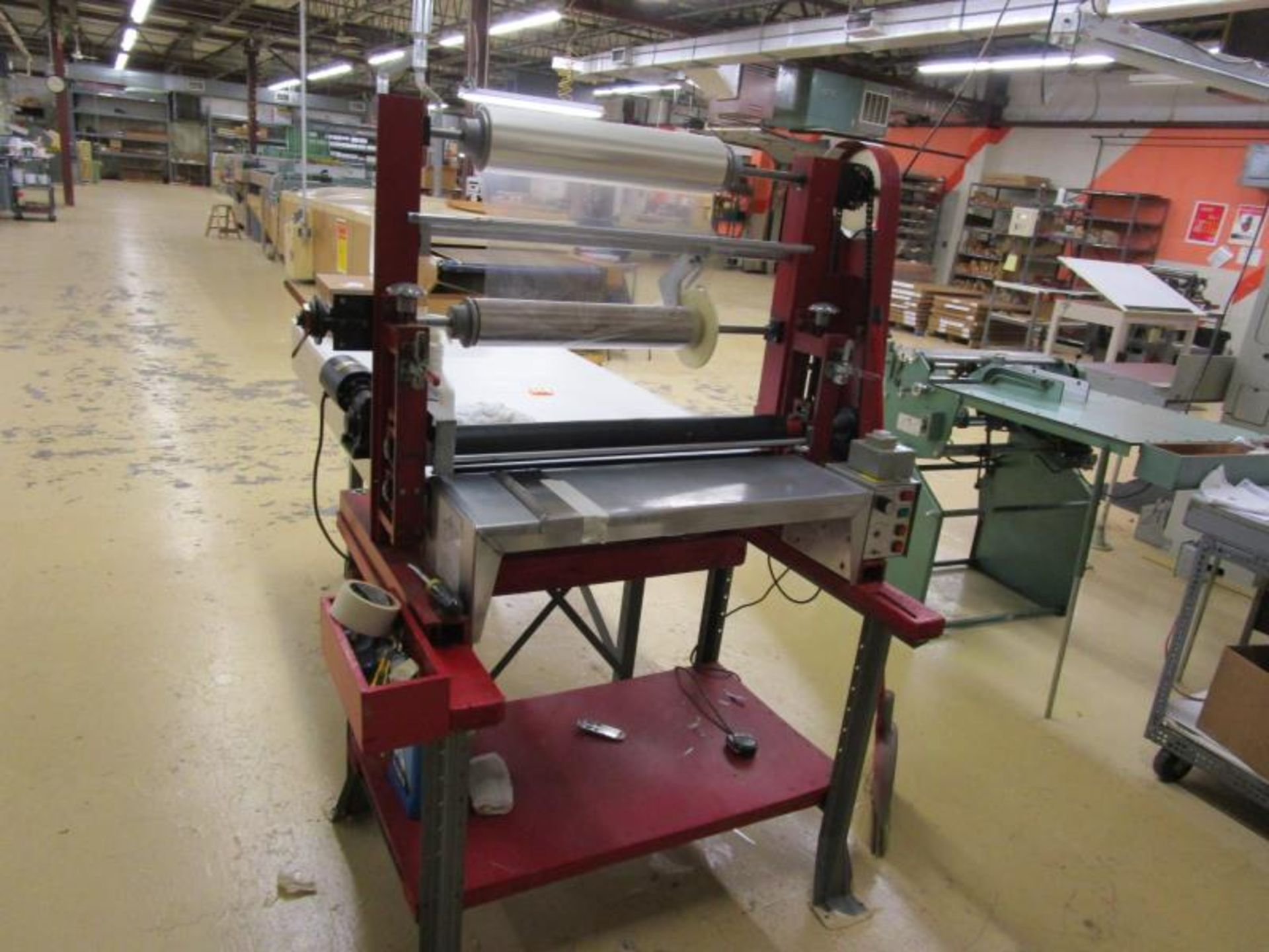 """Cold Roll Laminator, 28"""" Max Roll Size, Speed Controller & Baldor Motor - Image 2 of 6"""