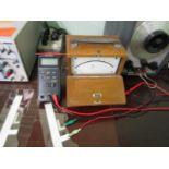 Radio Shack Auto-Range Digital Multimeter & SIPE Wood Box Meter