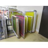 (12) Self Tensioning Screens w/ Wood Rack