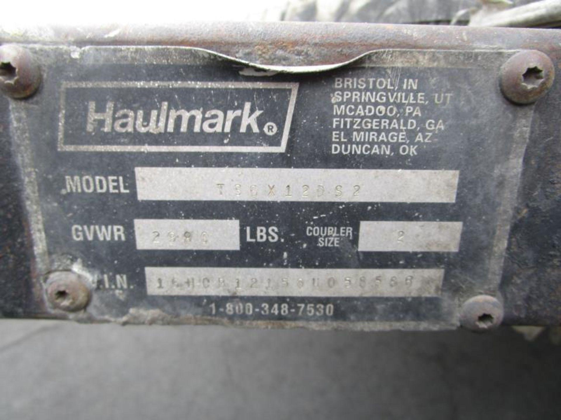 "Lot 32 - 2008 Trailer, 6' x 12' by Hualmark, Utility Body, 1,980lbs GWVR, 2"" Ball, Model: TS6X12DS2, VIN:"