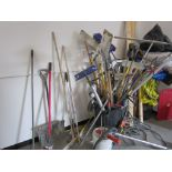 Lot 59 - Lot Of Hose, Brooms, Tools, Etc.
