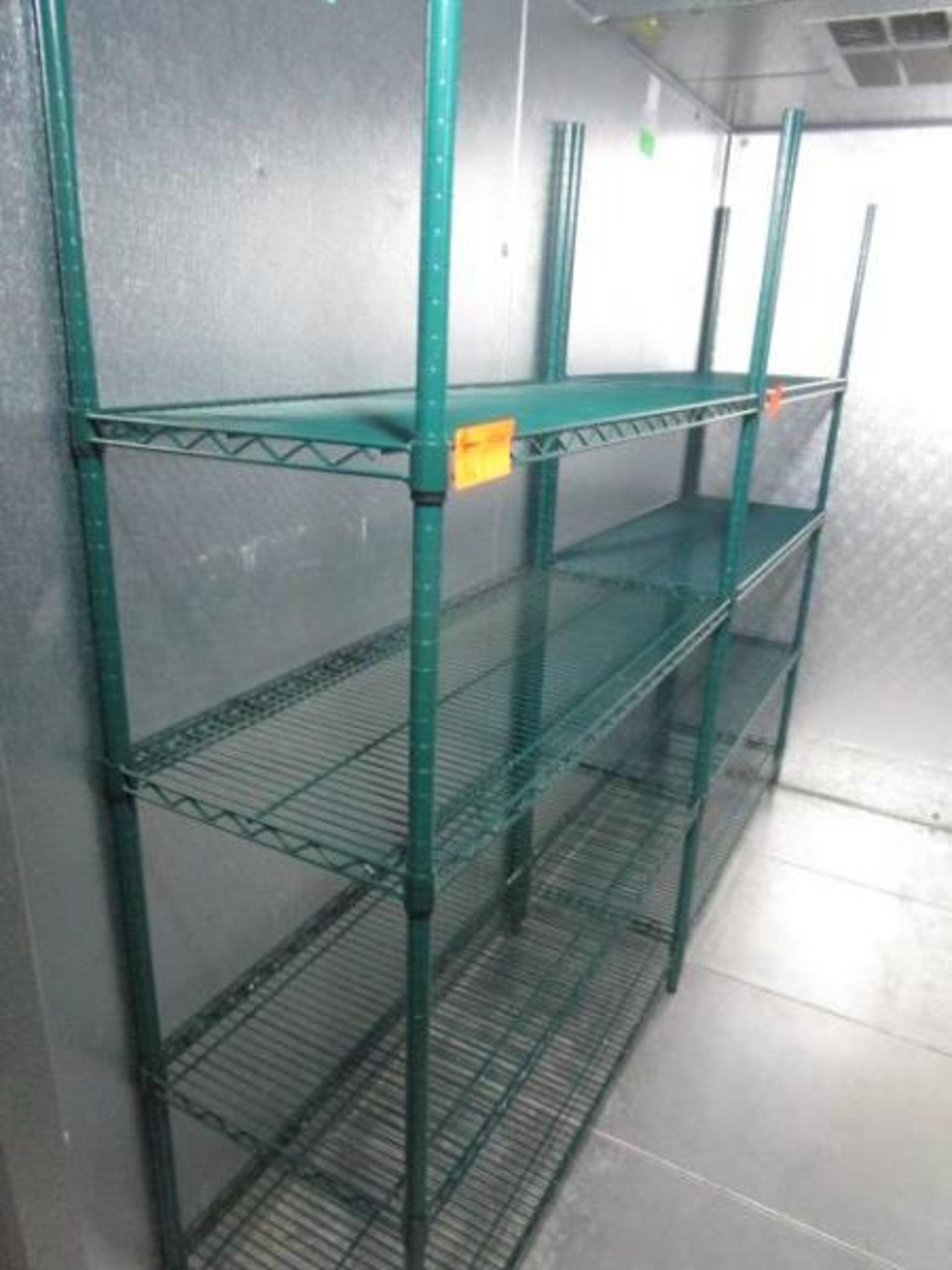 "Lot 56 - Metal Wire Metro Style Rack, 47"" x 75"" x 18""d"