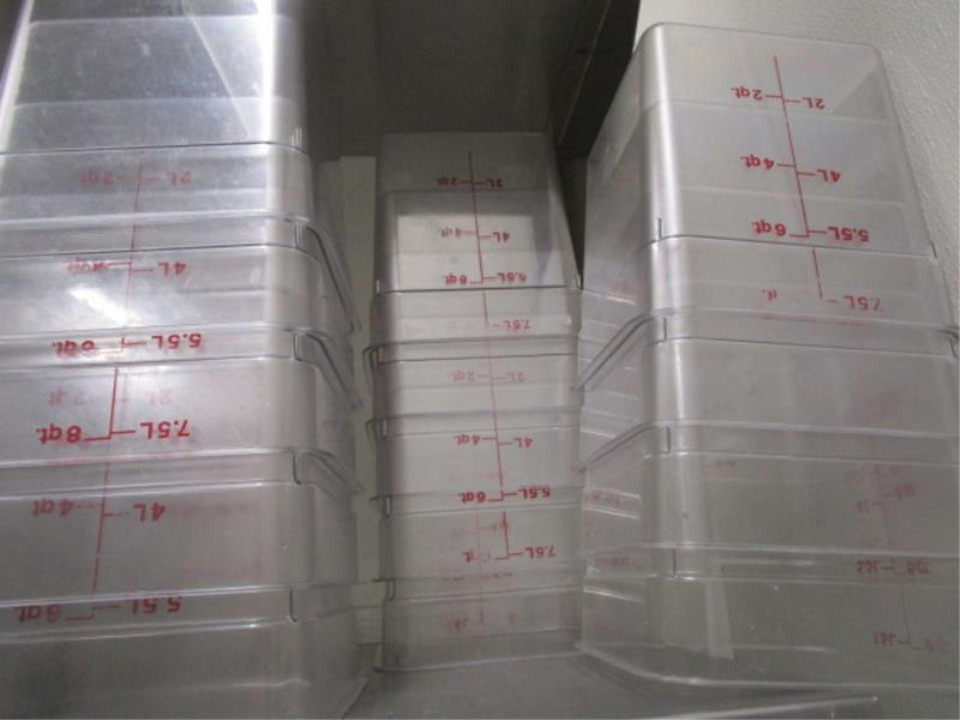 Lot 39 - Lot Clear Plastic Food Containers, 4QT, 6QT & 8QT