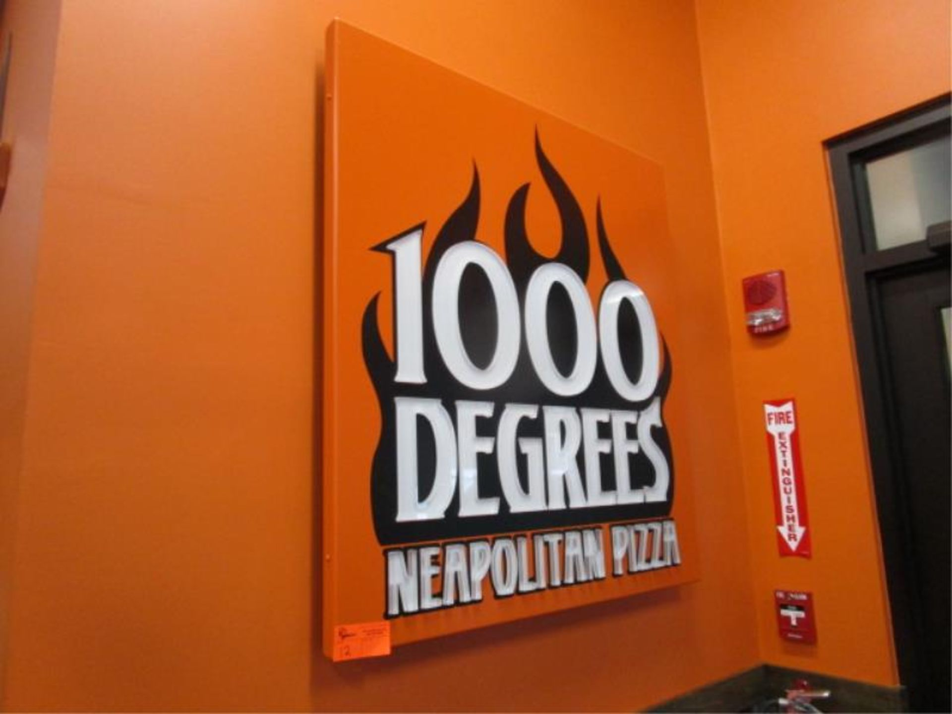 "Lot 12 - Wall Mounted Sign, "" 1000 Degree Neapolitan Pizza"""