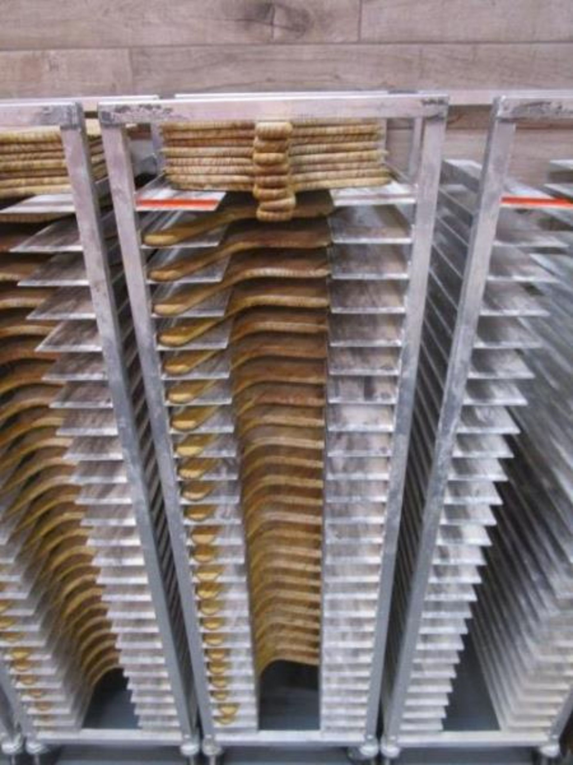 Lot 27 - Sheet Pan Rack by Channel w/ Wood Pizza Peels