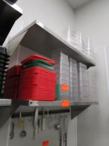 Lot 37 - (2) 4' Stainless Steel Wall Shelves by Elkray Food Service