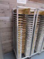 Lot 25 - Sheet Pan Rack by Channel w/ Wood Pizza Peels