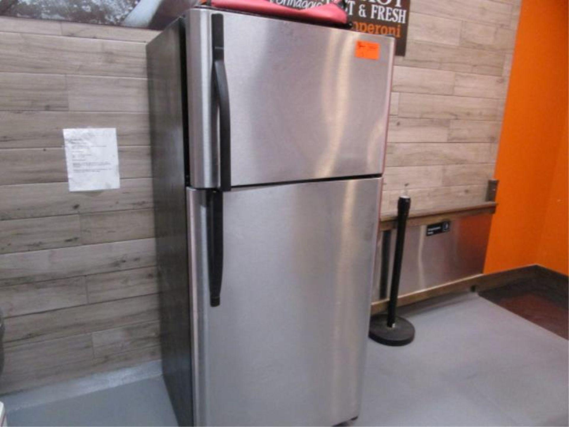 Lot 15 - Kenmore Stainless Steel & Black Enamel Refrigerator, Made 2007, Model: 253-6482340E, SN: BA74023935