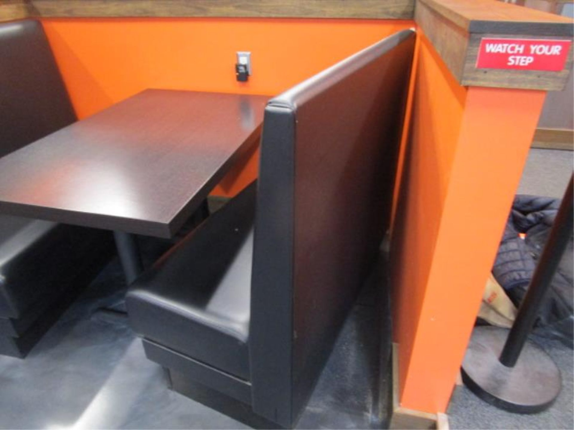 Lot 5 - (8) Black Vinyl Single Sided Booth Sections
