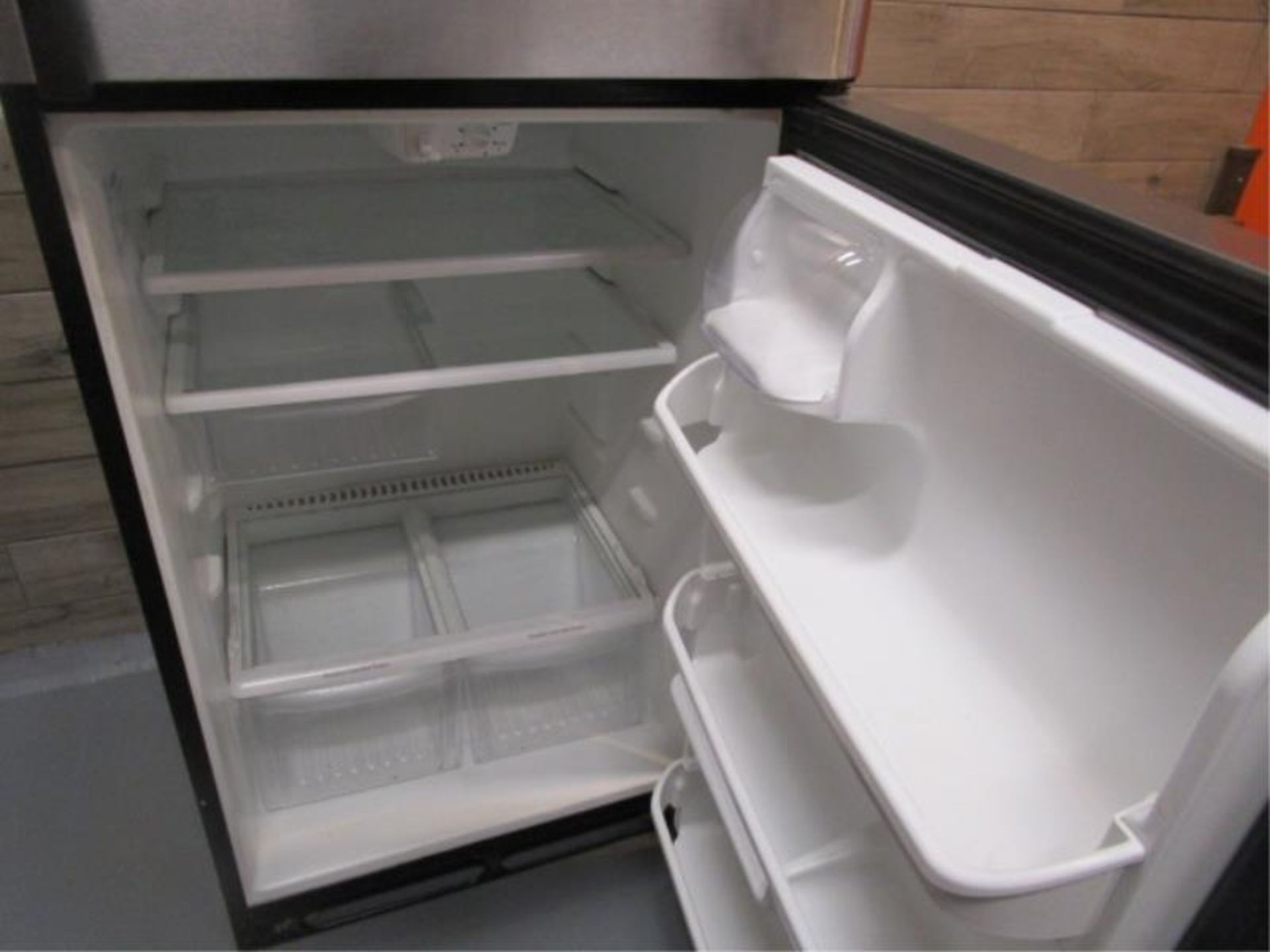 Lot 15 - Kenmore Stainless Steel & Black Enamel Refrigerator, Made 2007, Model: 253-6482340E, SN: BA74023935
