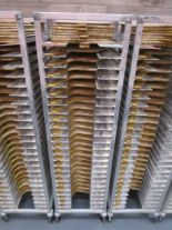 Lot 26 - Sheet Pan Rack by Channel w/ Wood Pizza Peels