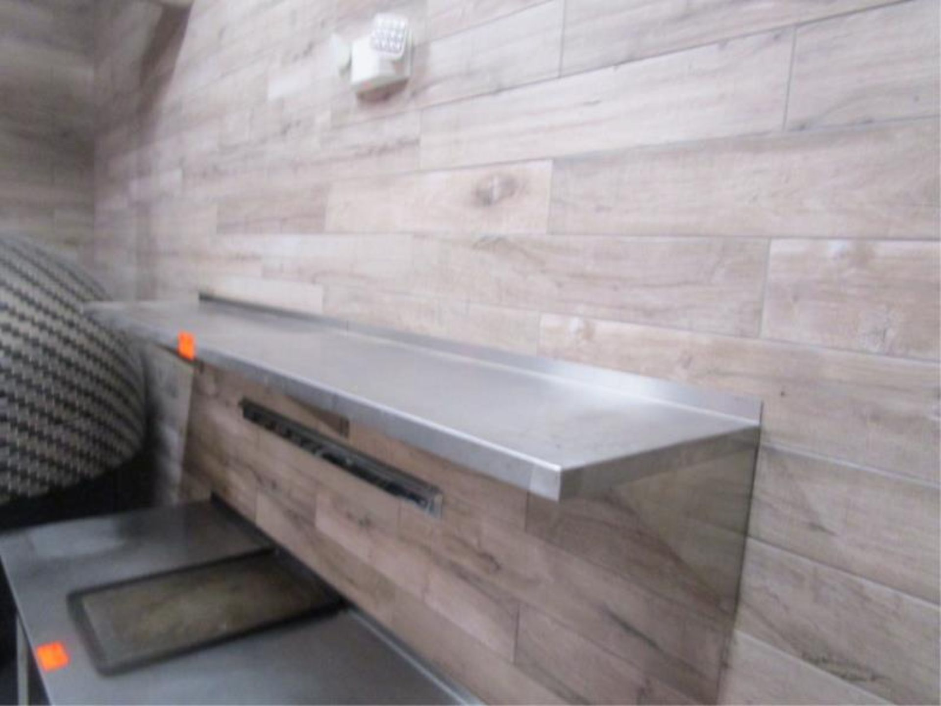 Lot 17 - (2) 4' Stainless Steel Wall Shelves