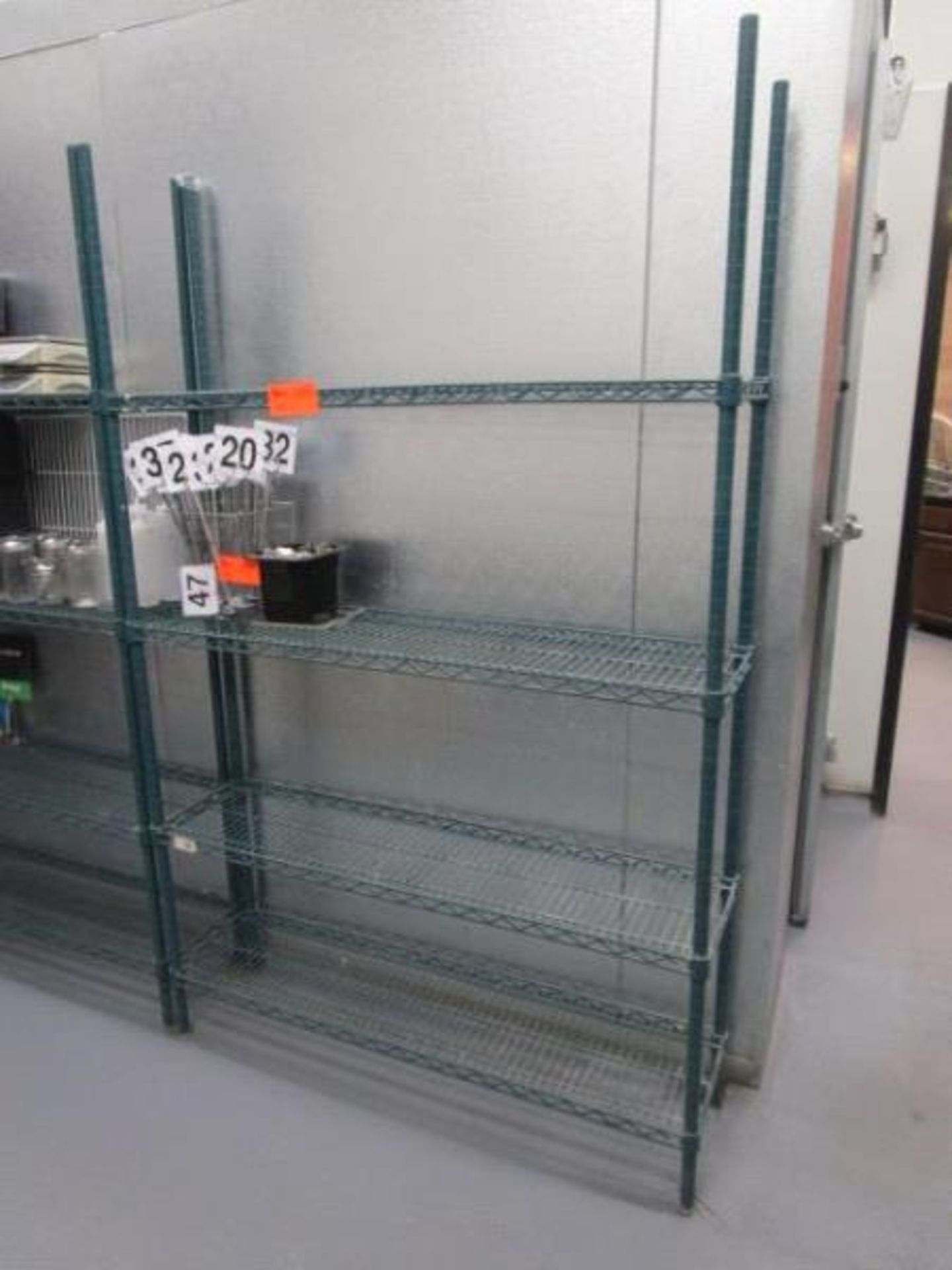 "Lot 47 - Metal Wire Metro Style Rack, 4' x 75"" x 12""d"
