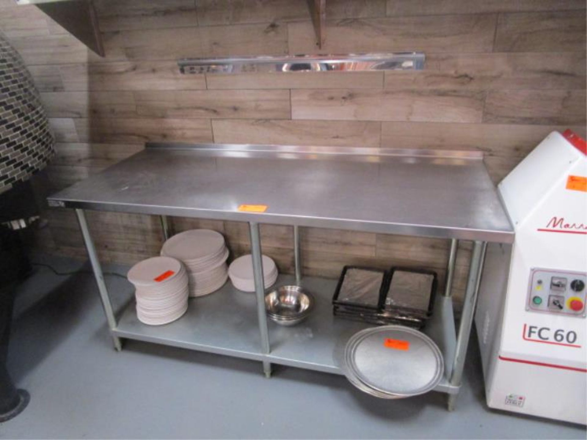 Lot 18 - 6' Stainless Steel Prep Table