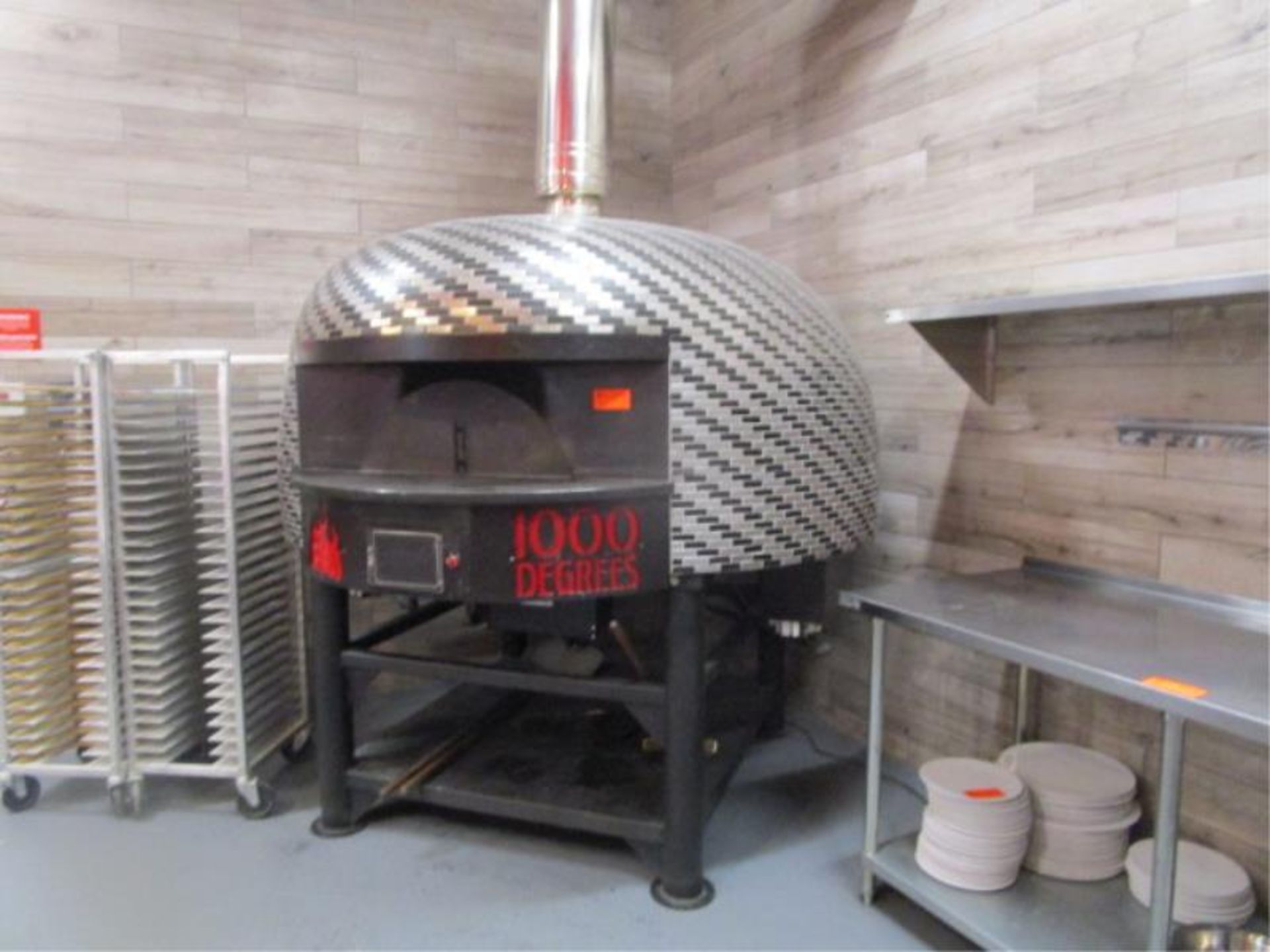 Lot 19 - Pizza Oven by Marra, Dome Shaped, Model: RT150G, SN: 04582, Approx. 6.5' x 8'w. Buyer will be