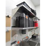 Lot 36 - (2) 4' Stainless Steel Wall Shelves by Elkray Food Service