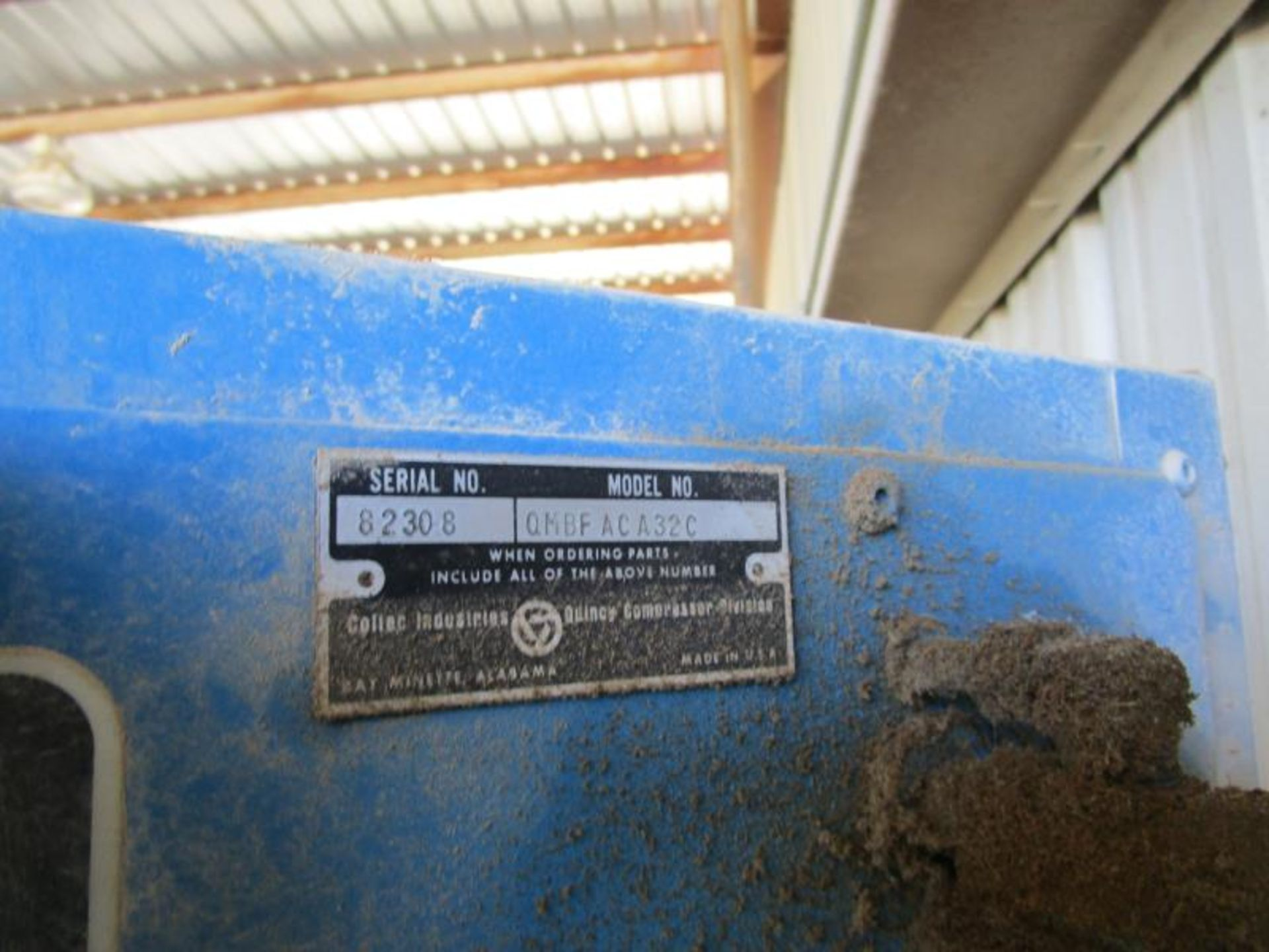 Lot 17 - Quincy Air Compressor, 19985 hours, m: QMBFACA32C SN:82308 w/ Great Lakes Regenerative Air Dryer