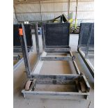 Lot 32 - Steel lumber cart with left hand arm