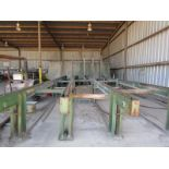 Lot 23 - Tilt hoist by Winston with infeed chain deck (12'W), down feed chain deck (12'W)