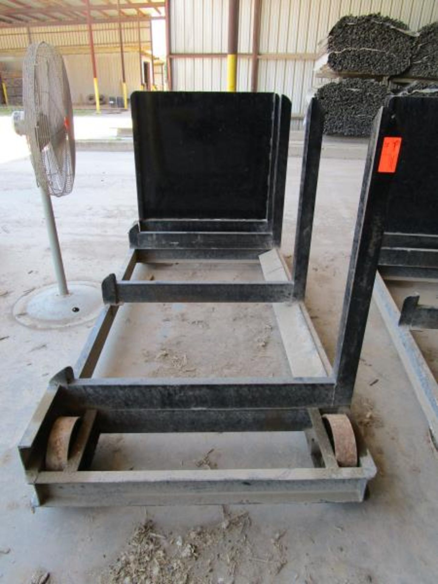 Lot 39 - Steel Lumber cart with right hand arm