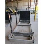 Lot 36 - Steel lumber cart with left hand arm