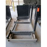 Lot 40 - Steel Lumber cart with right hand arm