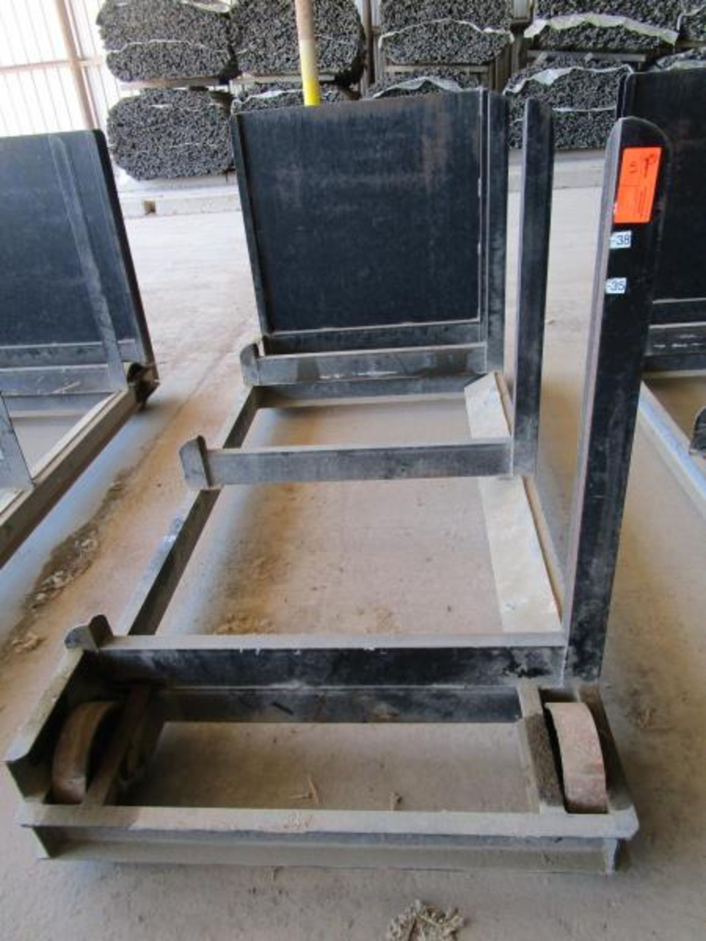 Lot 43 - Steel Lumber cart with right hand arm