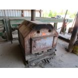 Lot 25 - Custom wood heat exchanger 115 volt blower motor
