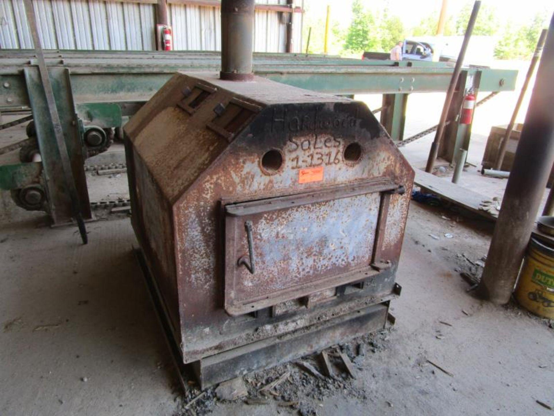 Lot 25 - Custom wood heat exchanger 115 volt blower motor