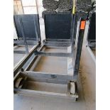 Lot 42 - Steel Lumber cart with right hand arm