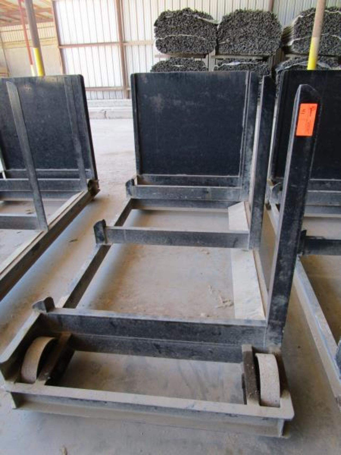 Lot 41 - Steel Lumber carts with right hand arm