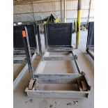 Lot 33 - Steel lumber cart with left hand arm