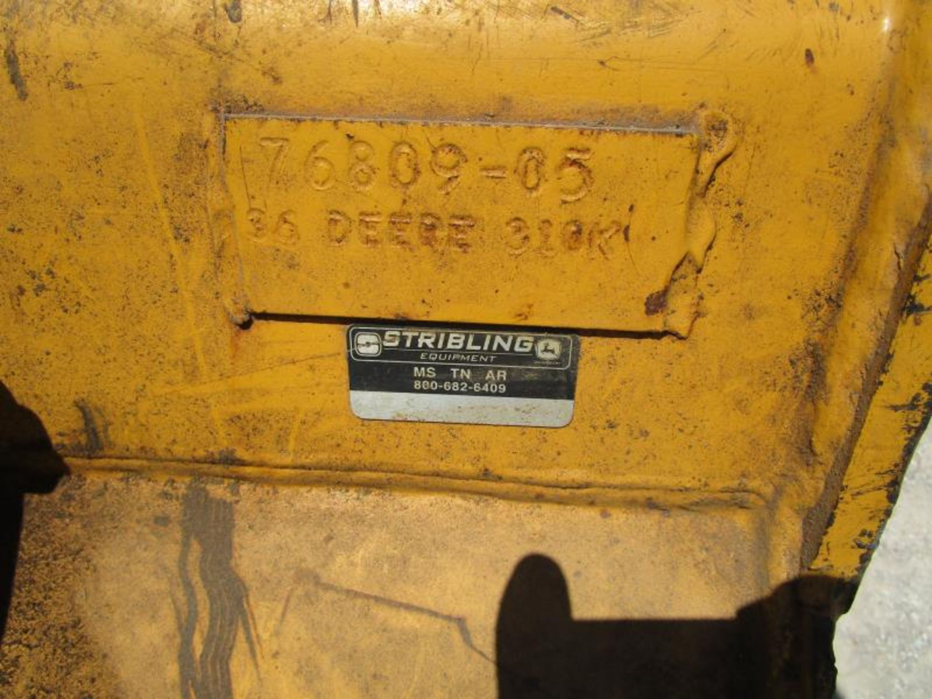 John Deere 410E, Turbo 4x4, 3,644 hours - Image 7 of 14