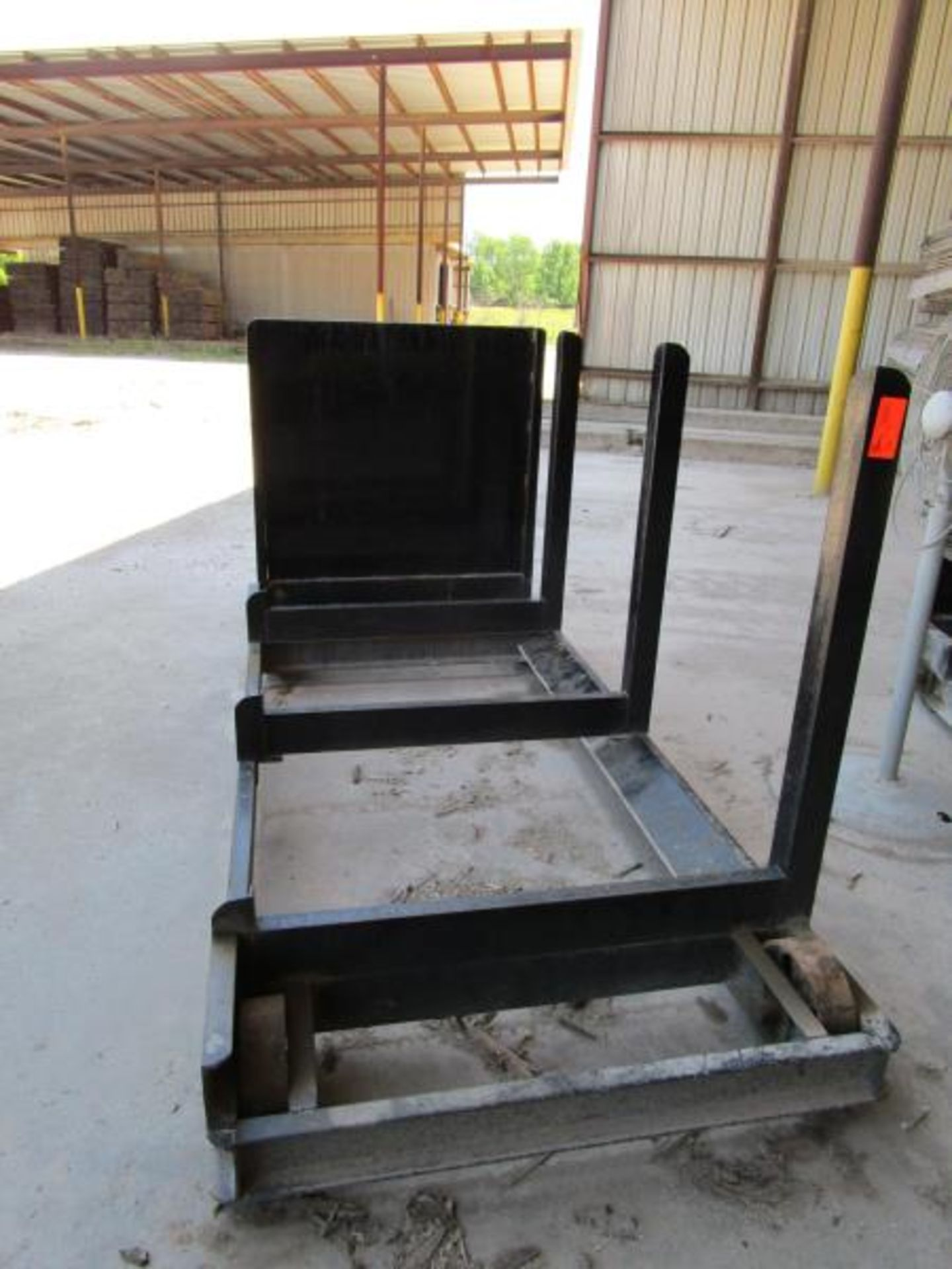 Lot 38 - Steel Lumber cart with right hand arm