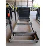 Lot 35 - Steel lumber cart with left hand arm