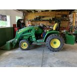 2014 John Deere 3033R Tractor w/ H1G5 Front Bucket, Rear Counter Weight, 309 Hours