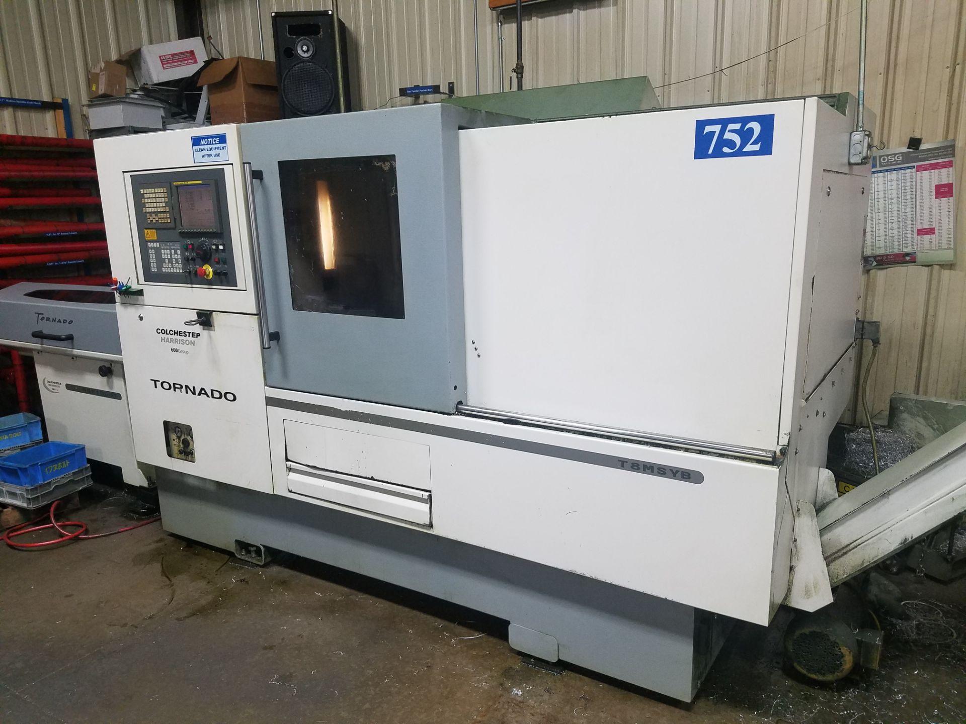 "Lotto 24 - Colchester Harrison Model T8MSYB CNC Turning Center, Fanuc 18i-TB CNC Control, 20.07"" Max. Swing"