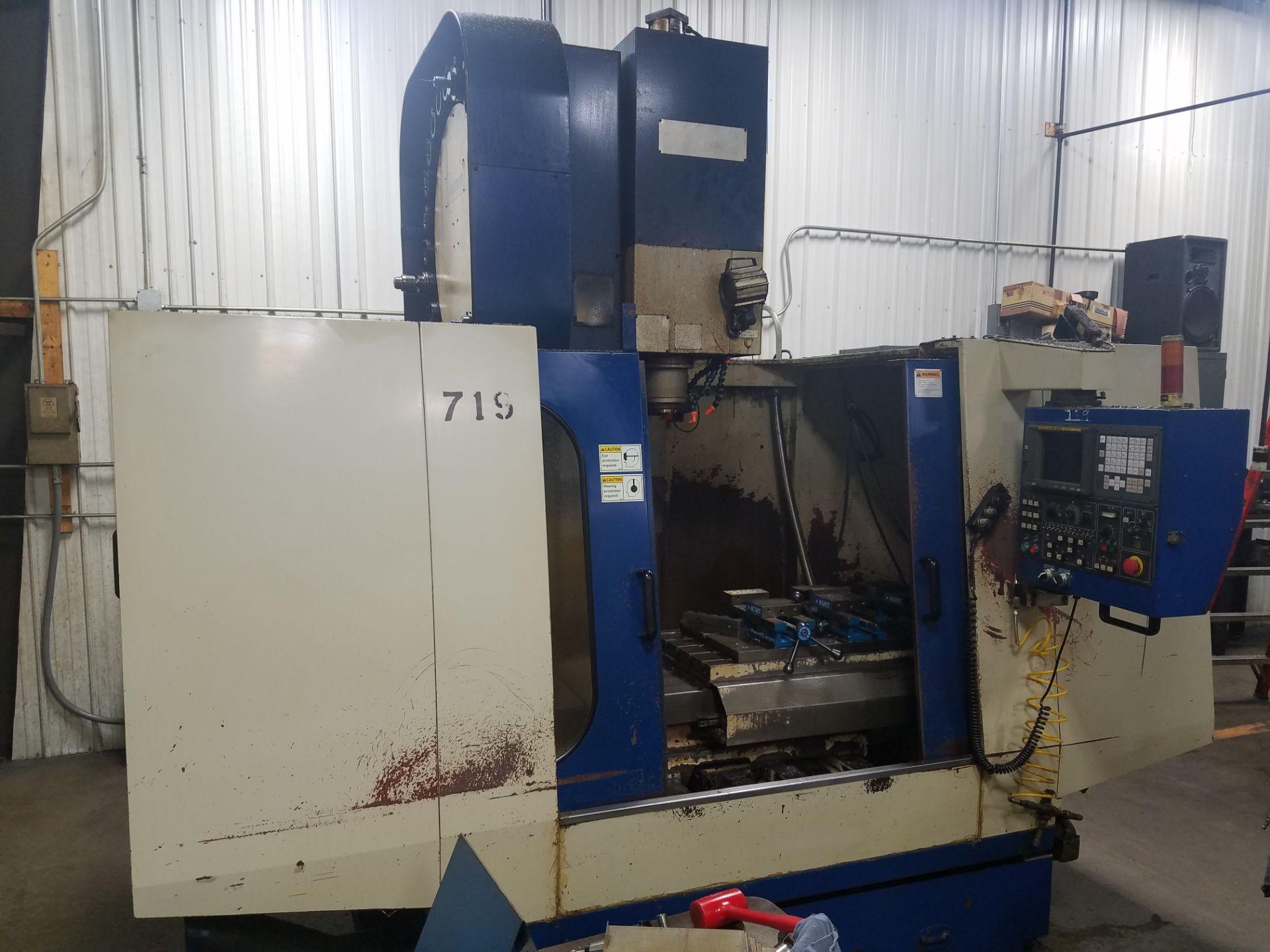Lotto 27 - Johnford Model SV-45M CNC Vertical Machining Center, s/n VU3107, New 1998, Fanuc 18M CNC Control, 50