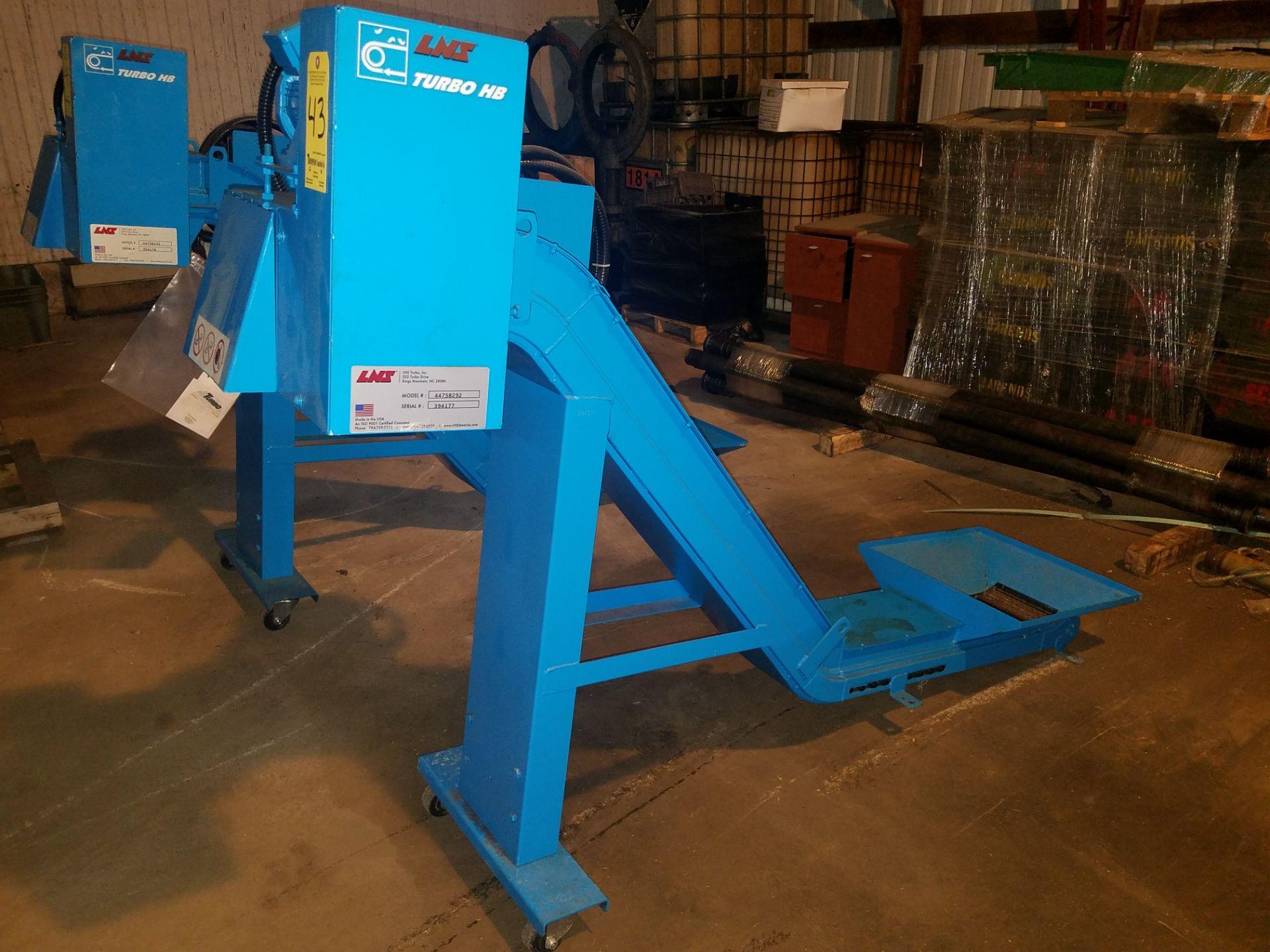 Lotto 43 - LNS Turbo Chip Conveyor, Model 44758292, s/n 394177, Like New