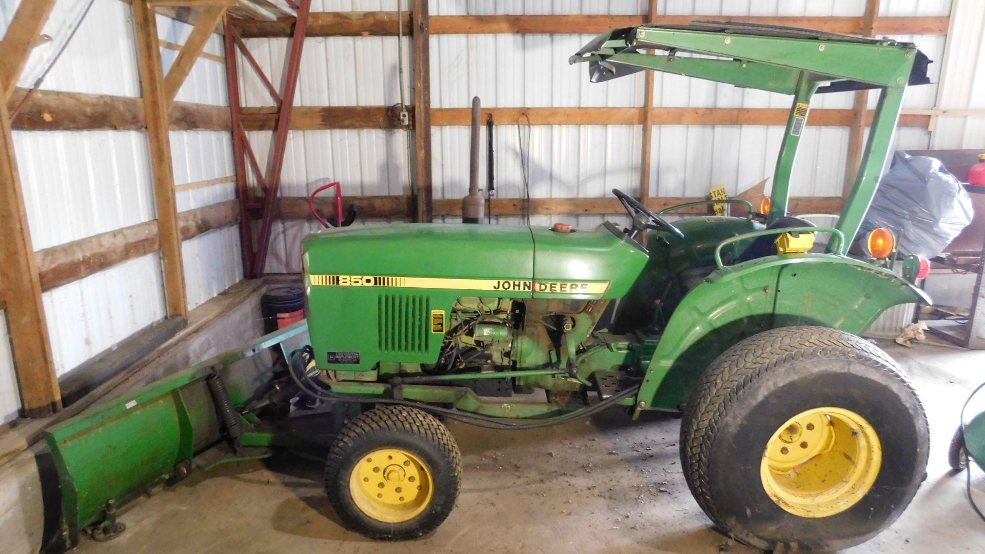 Lot 45 - John Deere Model 850 Tractor, with Snow Blade, s/n 10691GL