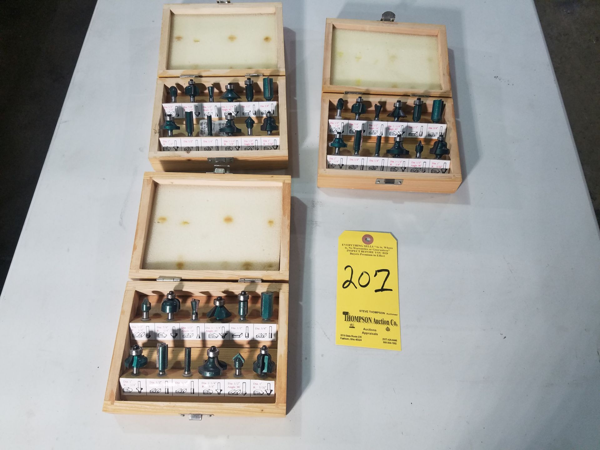 Lot 207 - Lot, Carbide Tipped Router Bits