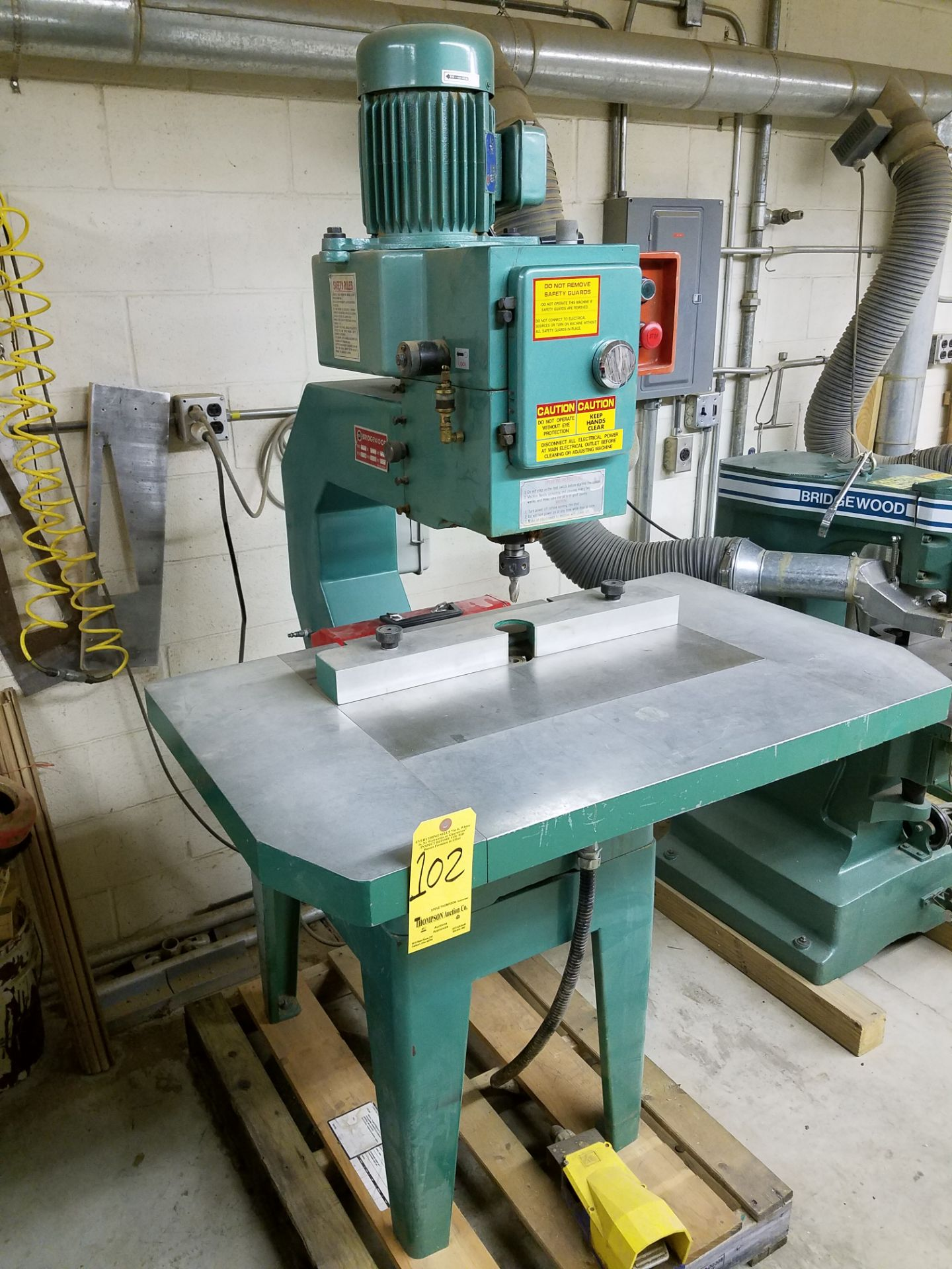 Lot 102 - Bridgewood SR550 Pneumatic High Speed Overarm Router, 3 HP, 220/1/60 AC, Loading Fee $50.00